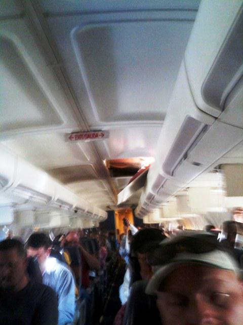 Díra v trupu letadla společnosti Southwest Airlines