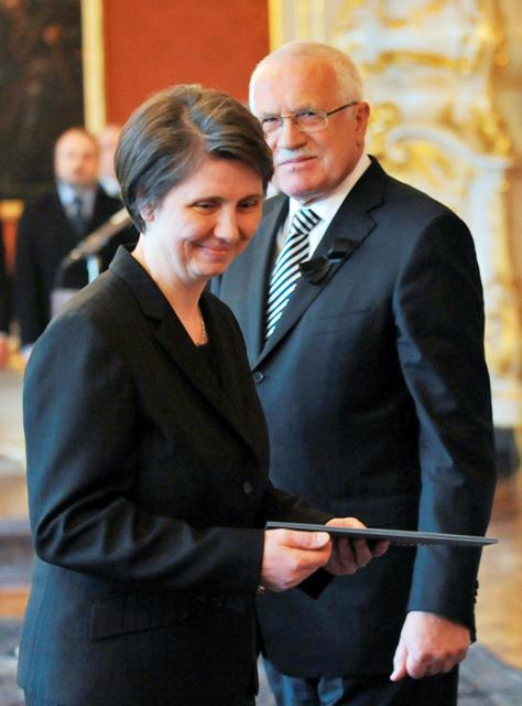 Václav Klaus a Rút Bízková