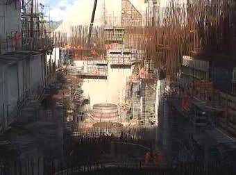 Stavba přehrady na Bílém Nilu