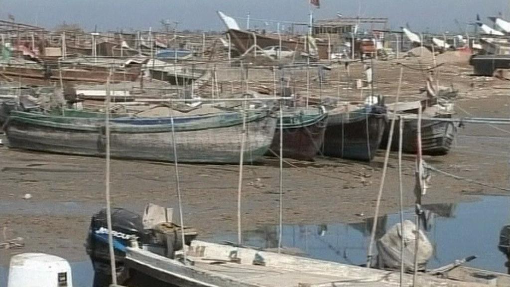 Rybářské lodě v Íránu
