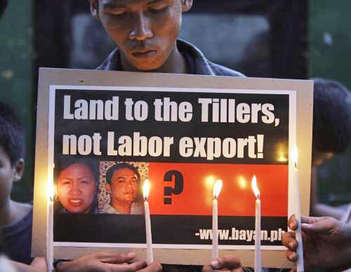 Protest proti popravě Filipínců v Číně