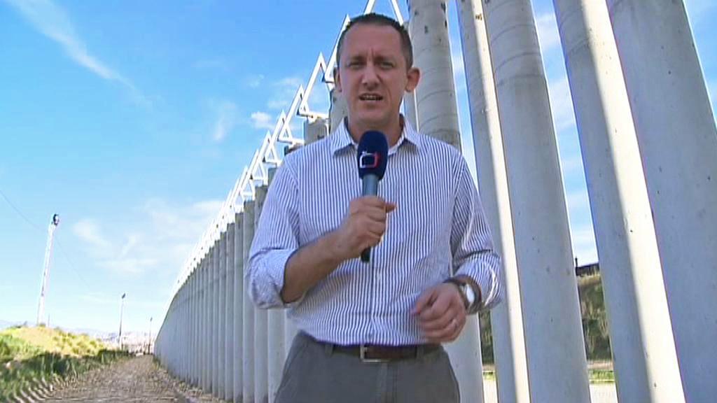Michal Kubal na americko-mexické hranici