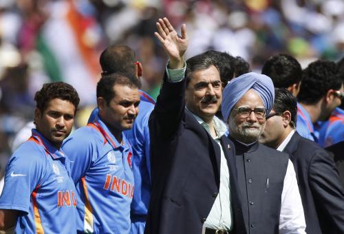 Júsuf Ráza Gílání a Manmohan Singh