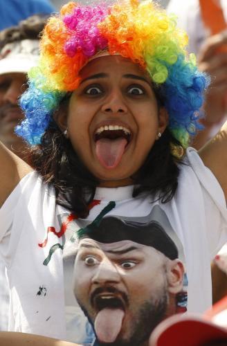 Indická fanynka kriketu