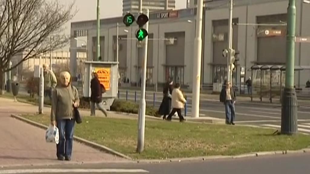 Přechod pro chodce s novým semaforem