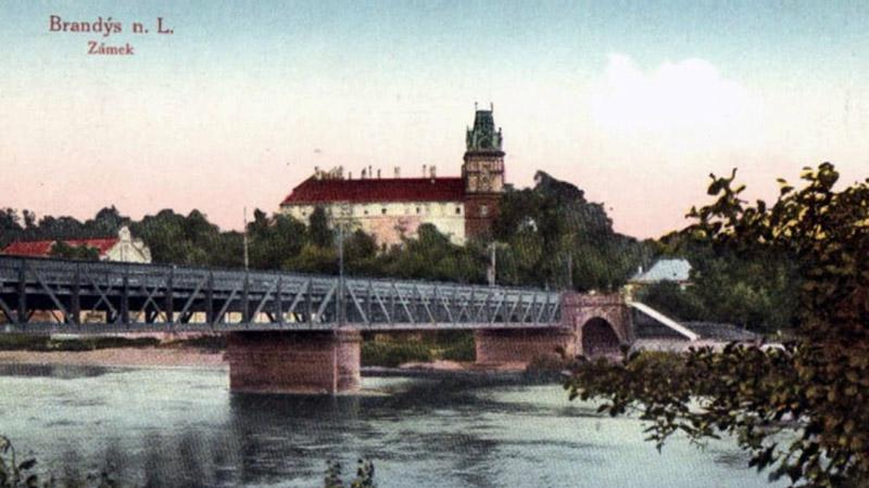 Starý most přes Labe na dobové ilustraci