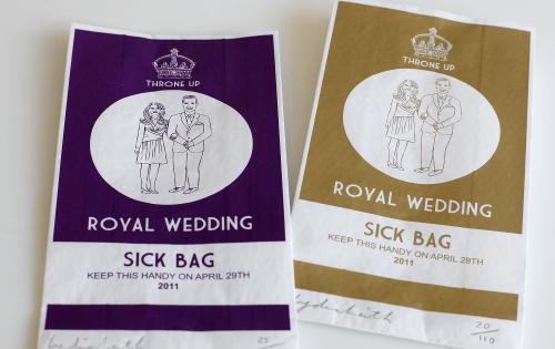 Pytlíky na zvratky odkazující na královskou svatbu