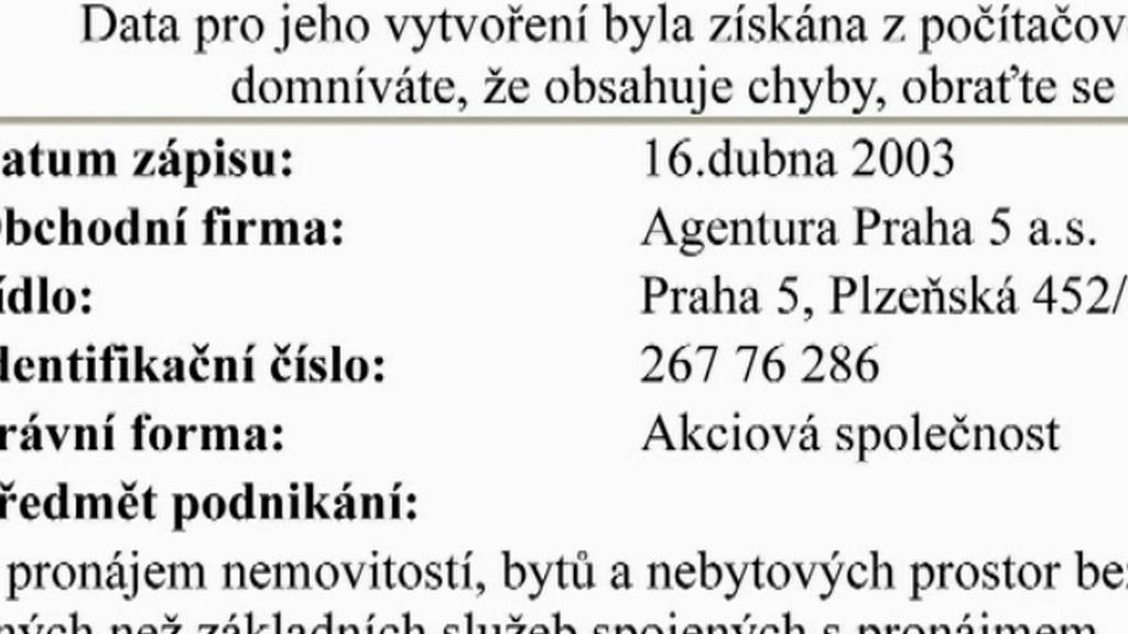 Smlouva s Agenturou Praha 5