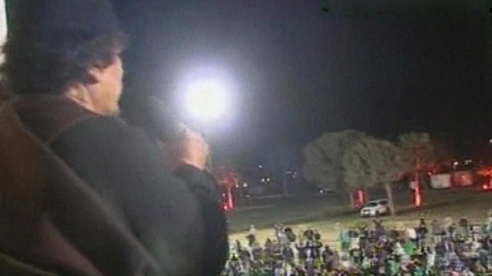 Muammar Kaddáfí v úterním projevu k Libyjcům