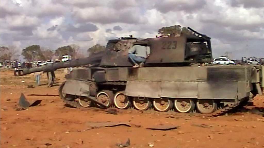 Následky bojů v Libyi
