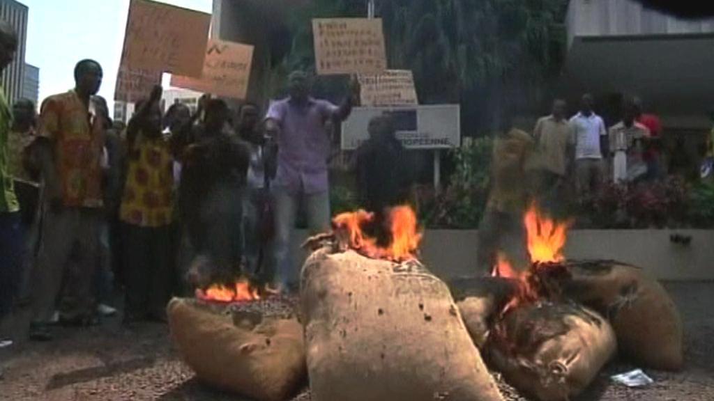 Protesty v Pobřeží slonoviny
