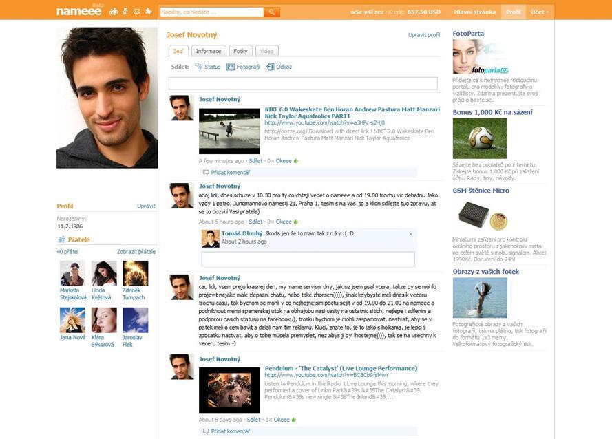 Sociální síť Nameee.com