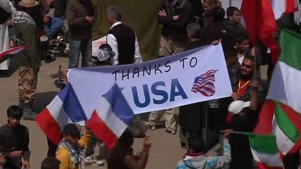 Libyjci děkují Američanům