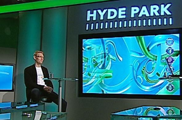 Karel Janeček v pořadu Hyde Park