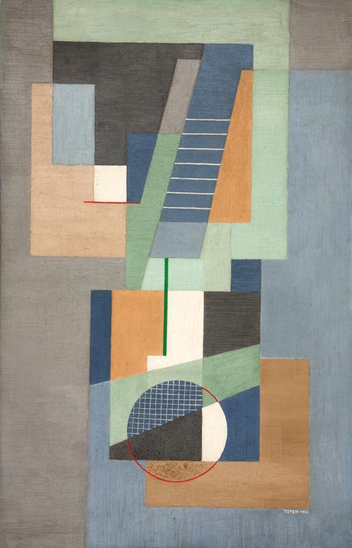 Toyen / Geometrická kompozice (1926)