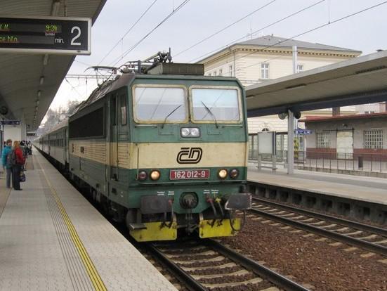 Vlak v Chocni