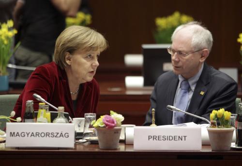 Angela Merkelová a Herman van Rompuy
