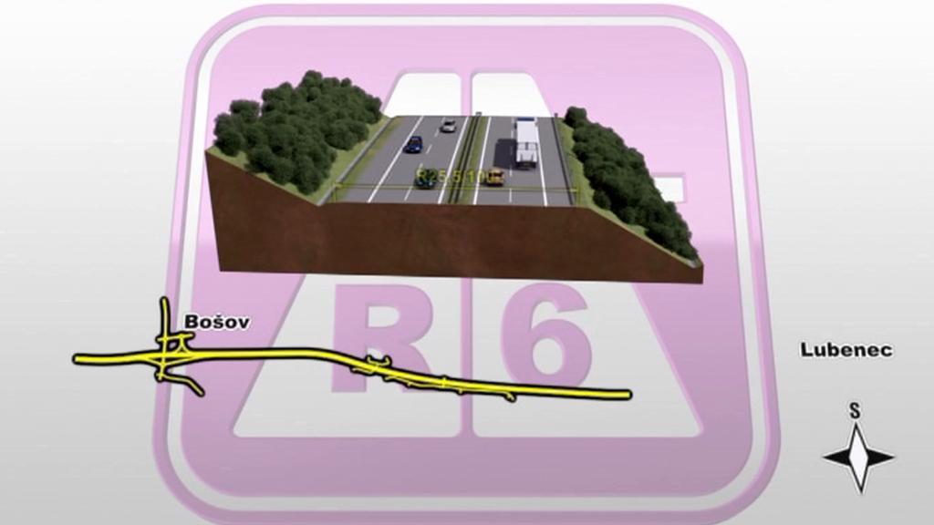 Vizualizace stavby R6
