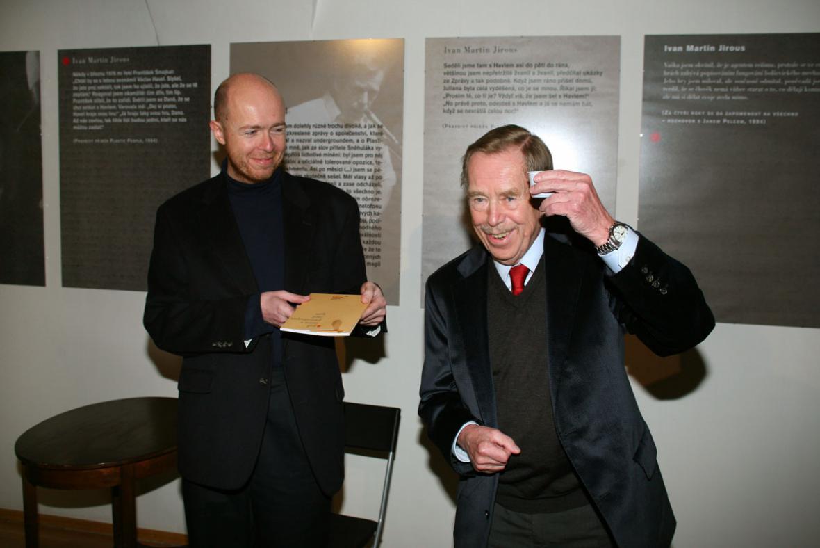 Václav Havel a  Martin C. Putna