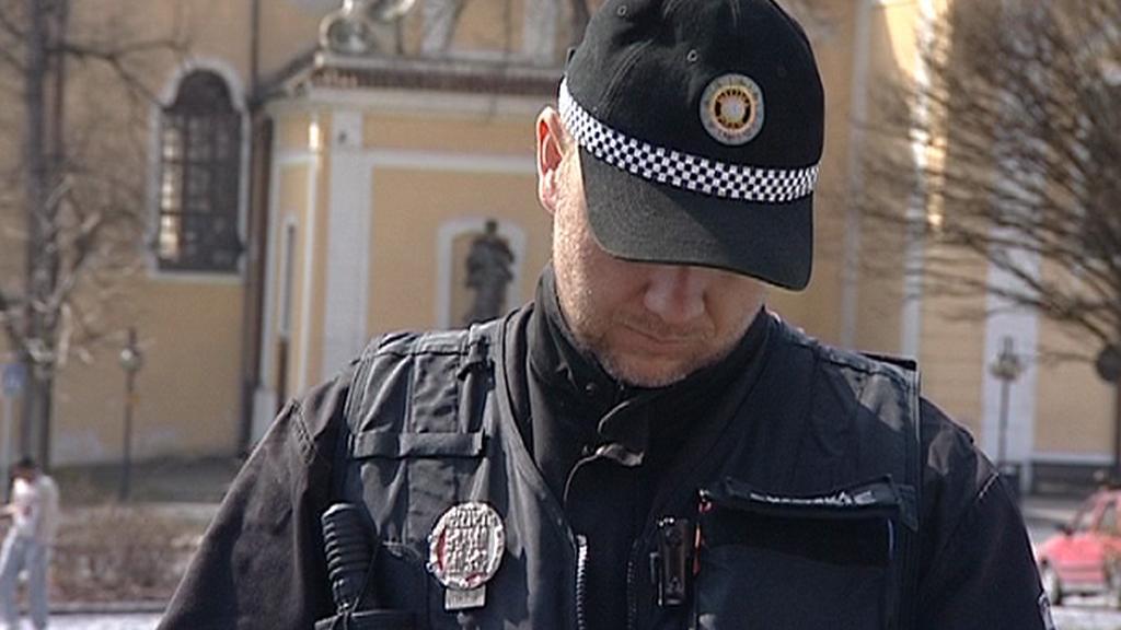 Policejní strážník v Týně nad Vltavou