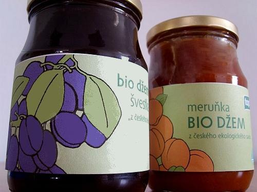 Švestkový a meruňkový bio džem