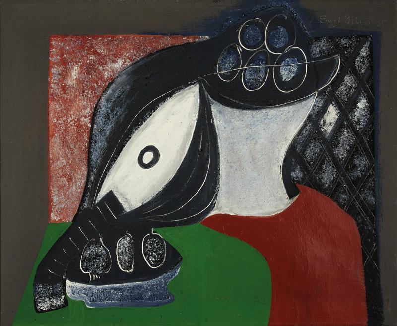 Emil Filla / Zátiší s ovocem a mandolínou (1935)