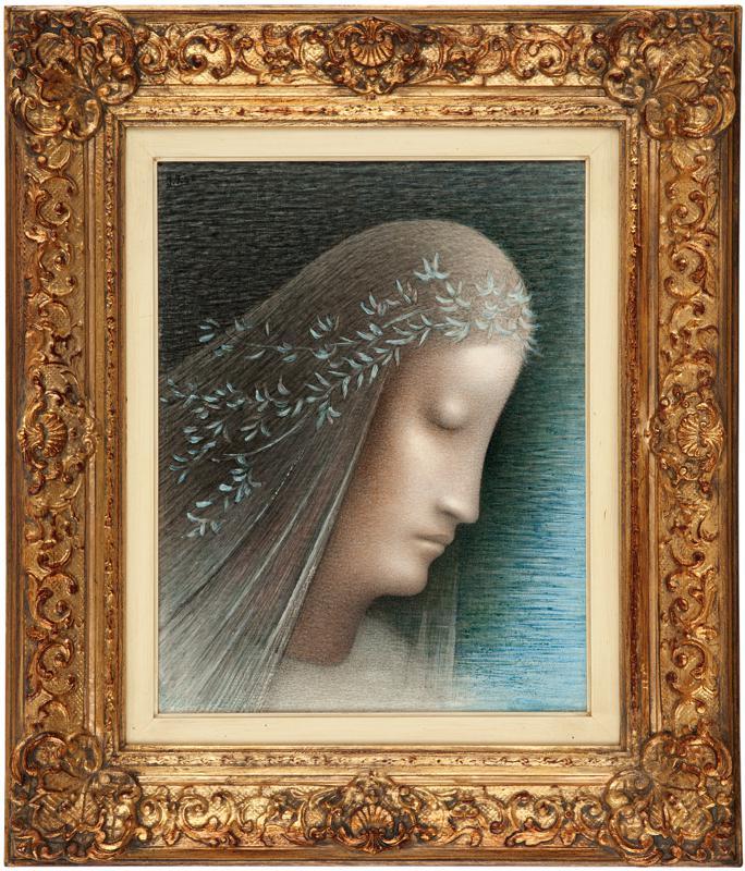 Jan Zrzavý / Ověnčená hlava (Panna Maria), 1952