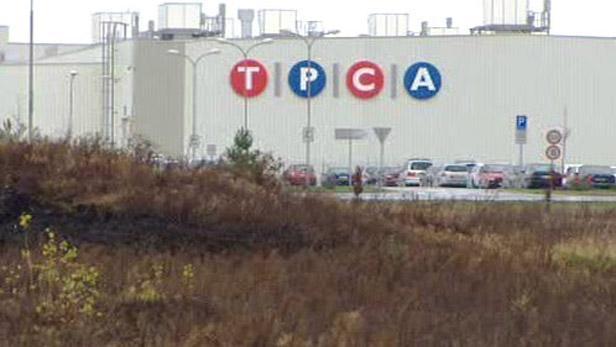 Výrobce automobilů firma TPCA v Kolíně