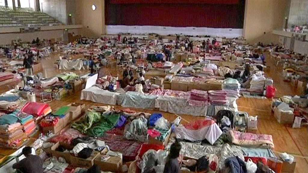 Evakuační tábor v Japonsku
