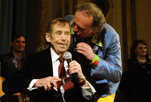 Václav Havel a Jaroslav Dušek