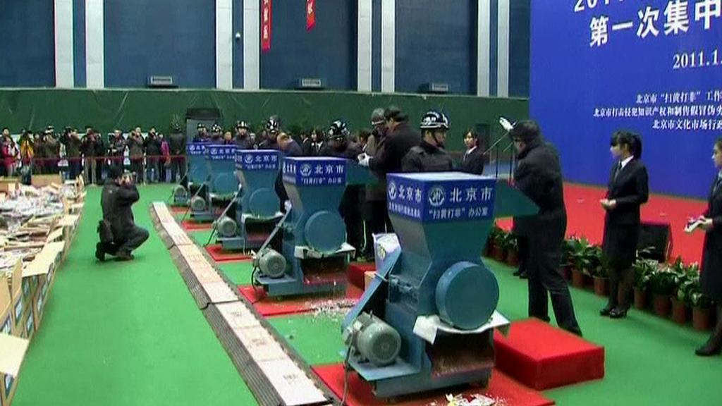 Čína likviduje padělky