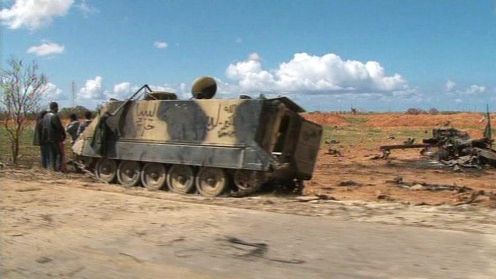 Následky bojů v libyjském Benghází