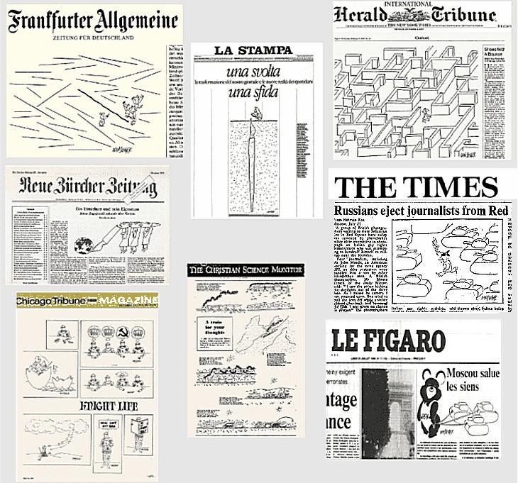Ivan Steiger / kresby v novinách světa