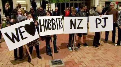 Novozélandské demonstrace za natáčení Hobita