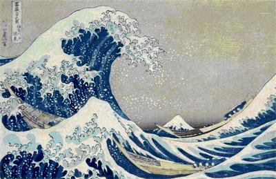 Kacušika Hokusai / Velká vlna v Kanagawě