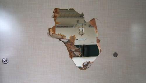 Utržená zdrž poškodila kupé