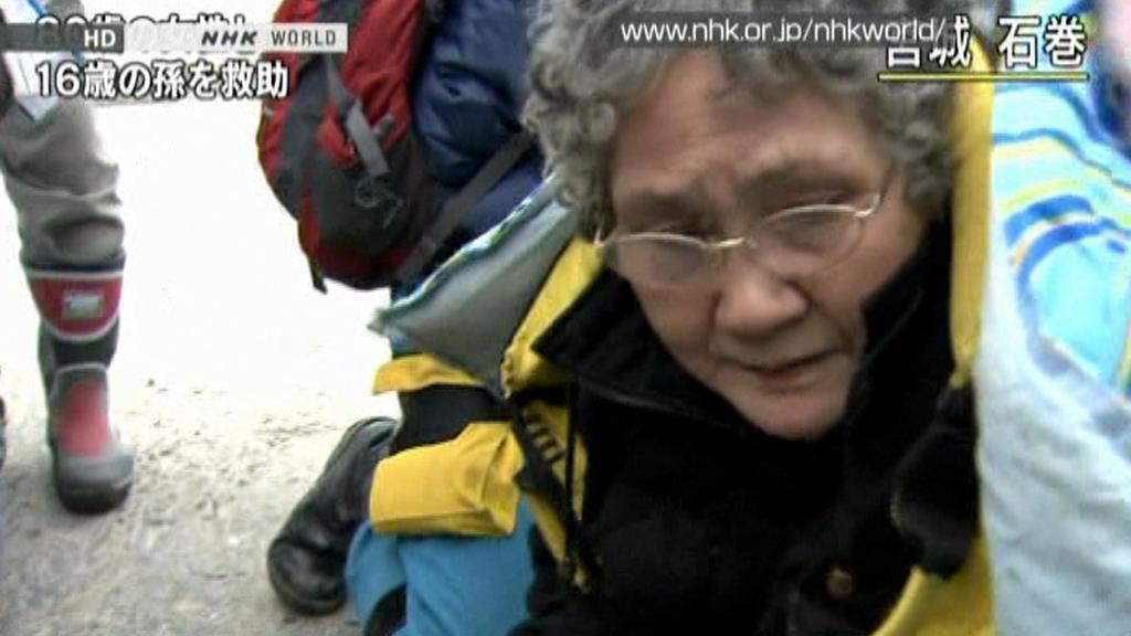 Zachráněná žena