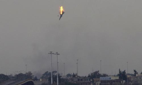 Sestřelená stíhačka nad Benghází
