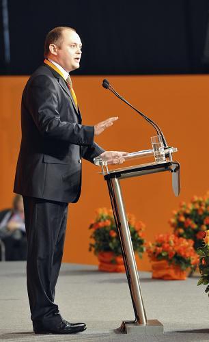 Michal Hašek během sjezdu ČSSD