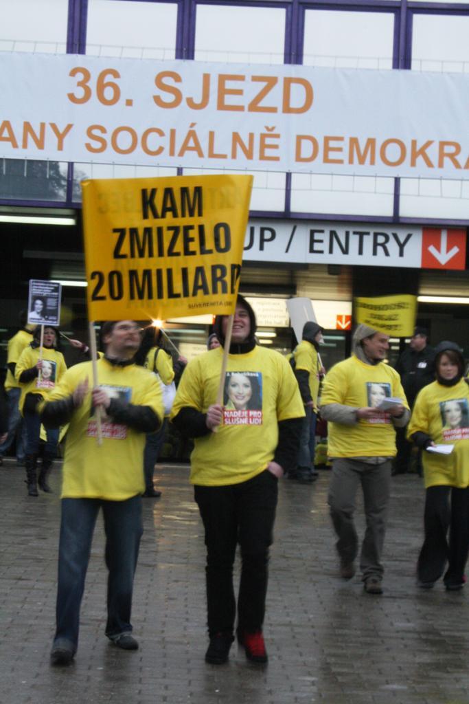 Protest příznivců Suverenity