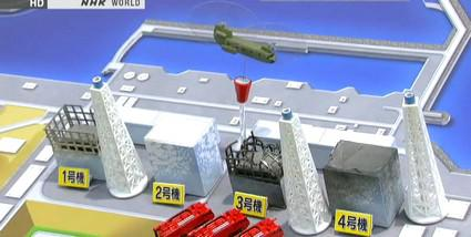 Armádní vrtulníky kropí poškozené reaktory
