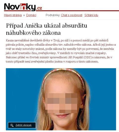Zpravodajství Novinek.cz o smrti Anny Janatkové