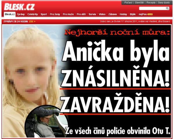 Zpravodajství Blesku.cz o smrti Anny Janatkové