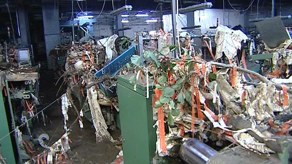 Textilka Damino krátce po povodni