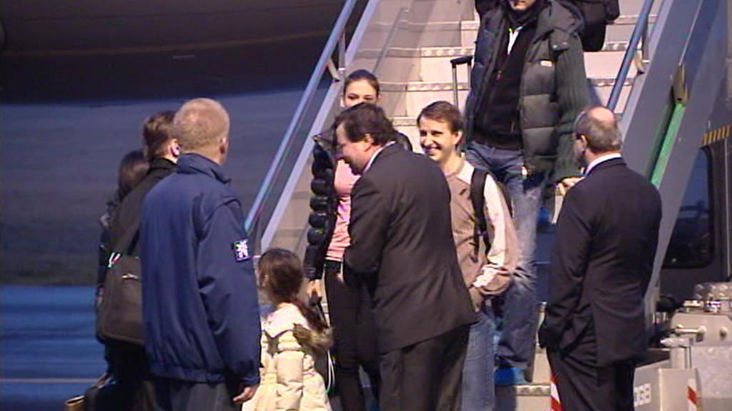 Alexandr Vondra vítá cestující z Japonska