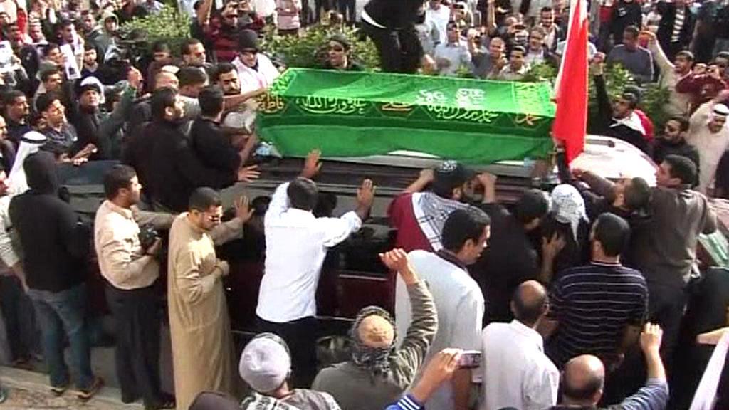 Pohřeb bahrajnských mučedníků