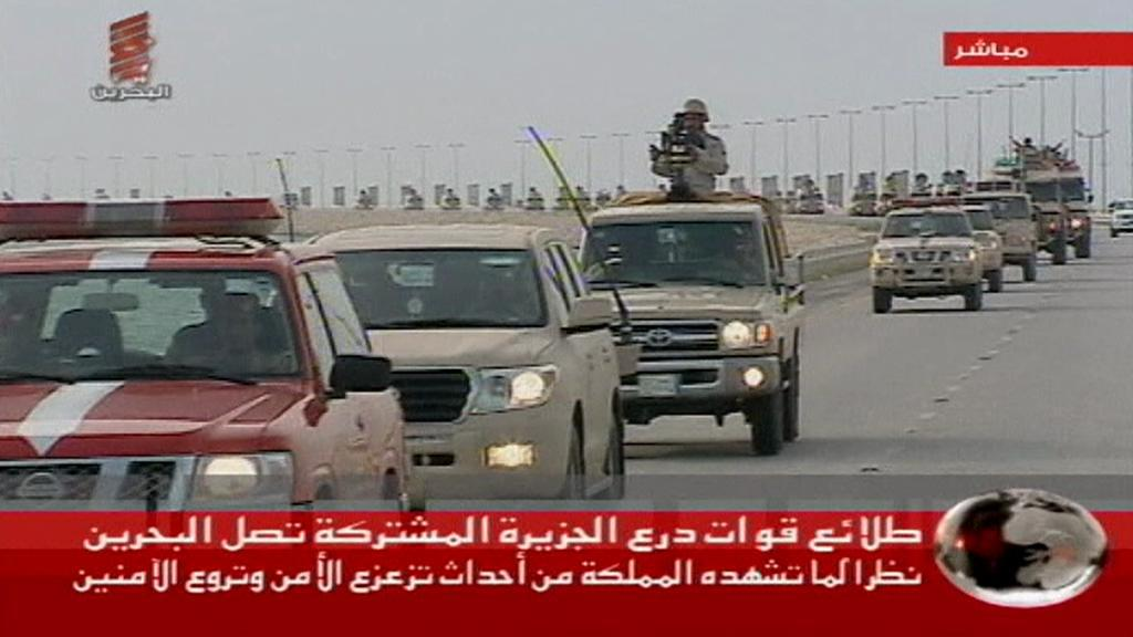 Vojenská kolona v Bahrajnu
