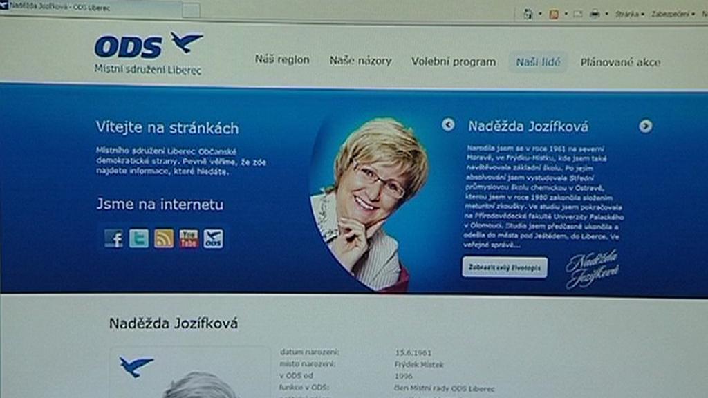 Internetová stránka Naděždy Jozífkové