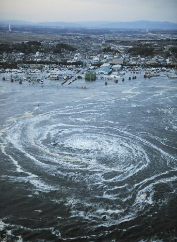 Víry na moři po zemětřesení nedaleko přístavu Oarai