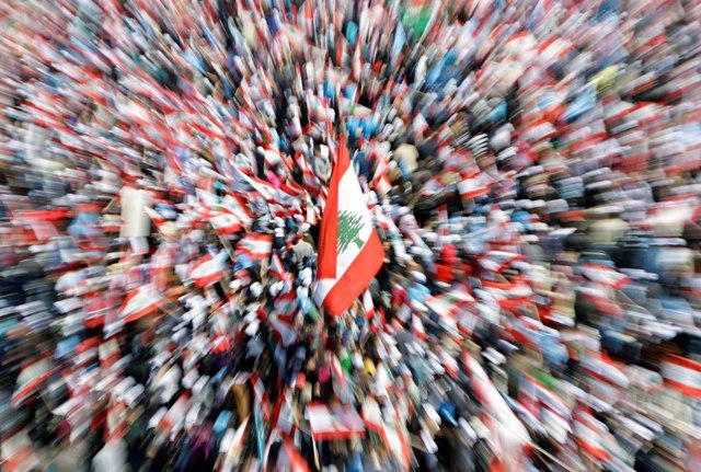 Bejrútská demonstrace proti Hizballáhu